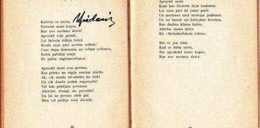 'Delfi' lasītāja: Pārlapoju 'Motocikla' sējumu ar autora parakstu...