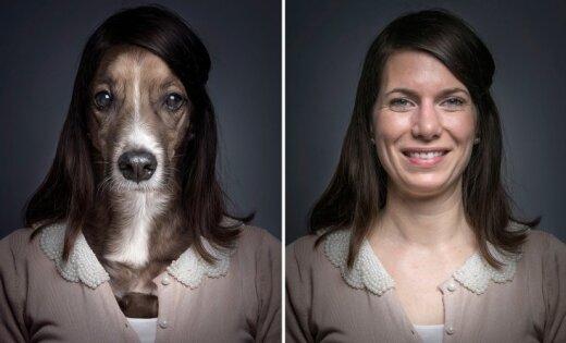 Suņu un cilvēku ģīmju pārsteidzošā līdzība