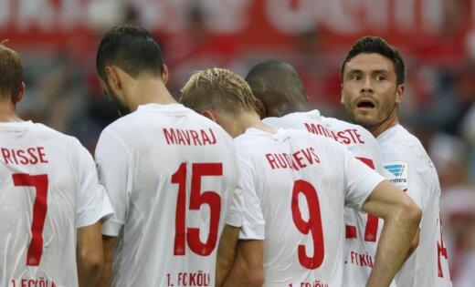 'FC Koln' ar Rudņeva palīdzību jauno sezonu iesāk ar graujošu uzvaru