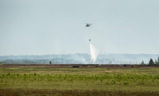 Из-за усиления ветра пожар на Адажском полигоне вырвался с локализованной территории