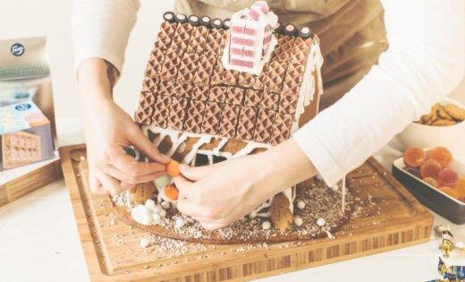Foto pamācība: Grezna piparkūku mājele Pirmajiem Ziemassvētkiem