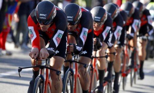 Носом васфальт: под спортсменом впроцессе гонки «взорвался» велосипед