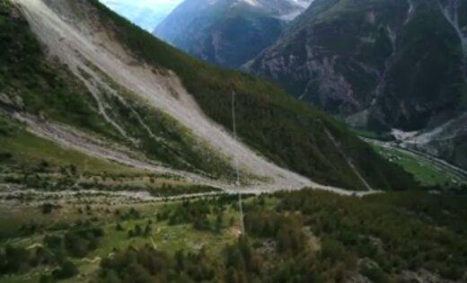 ВШвейцарии открыли полукилометровый висячий мост