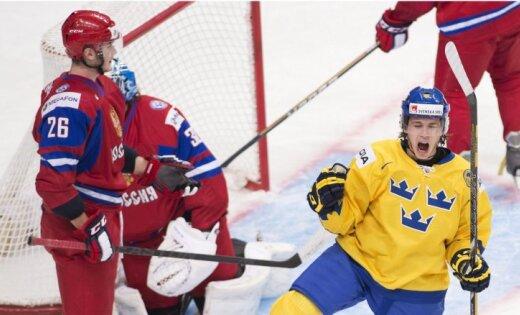 Русские хоккеисты уступили шведам вматче Евротура