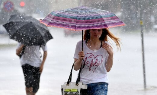 В четверг ожидаются дожди и грозы