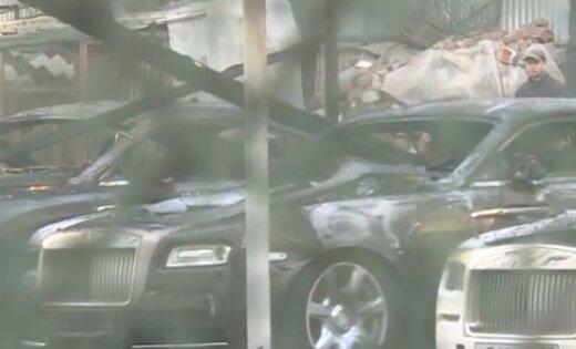 ВИДЕО: в центре Москвы сгорели 13 автомобилей люкс-класса