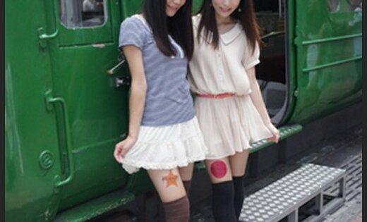Фото японок в мини юбках