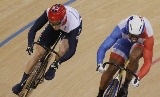 Brits Kenijs izcīna olimpisko čempiona titulu treka riteņbraukšanas sprintā