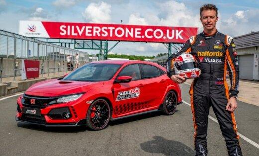 'Honda Civic Type R' ir ātrākais priekšpiedziņas auto arī Silverstonas trasē