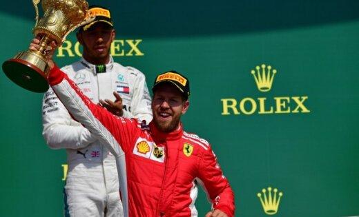 Fetels izcīna uzvaru Lielbritānijas 'Grand Prix'