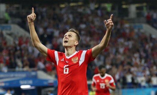 Krievijas izlases futbolistam Čeriševam nekonstatē antidopinga noteikumu pārkāpumus