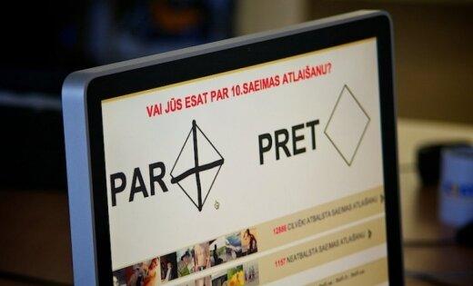 Referenduma oficiālie rezultāti: 10.Saeima atlaista ar 650 518 balsīm