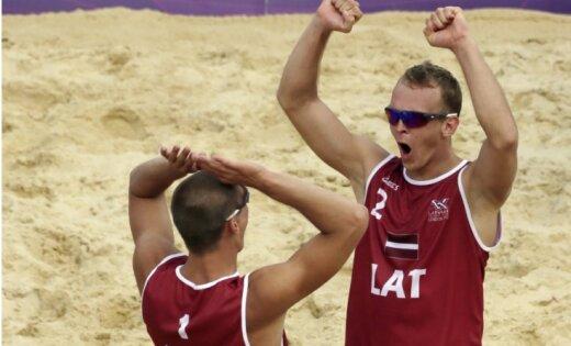 Pļaviņš/Šmēdiņš turpina, džudists Ovčiņņikovs un peldētājs Kalniņš uzsāk Londonas olimpiskās spēles