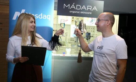Pirmajā tirdzniecības dienā ar 'Madara Cosmetics' akcijām veikti darījumi par 22 294 eiro