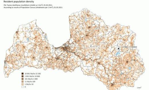 Statistiķi noskaidrojuši nomaļāko vietu Latvijā