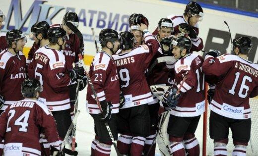 Latvijas hokeja izlase pārbaudes spēlē savā laukumā uzņem Franciju