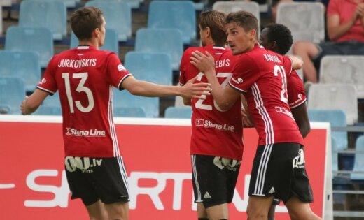 'Liepāja/Mogo' futbola virslīgas mačā izcīna 'sauso' uzvaru pār RFS