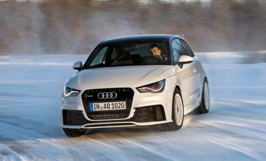 Video: ziemas prieki ar 'Audi A1 quattro'