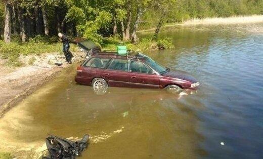 Subaru завелся после трех месяцев на дне озера