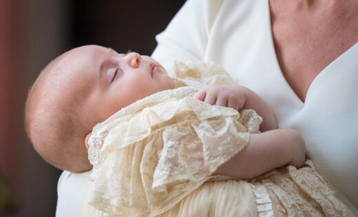Foto: Mazā britu prinča Luisa kristības