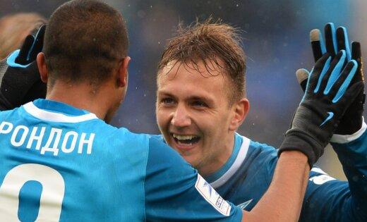 Защитник «Зенита» забил гол сосвоей половины поля