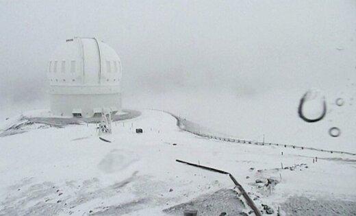 НаГавайях выпал снег практически в1 метр