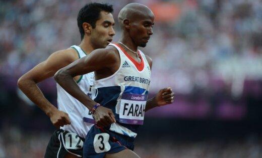 Lielbritānijas sportists Farahs izcīna otro zeltu Londonas Olimpiādē
