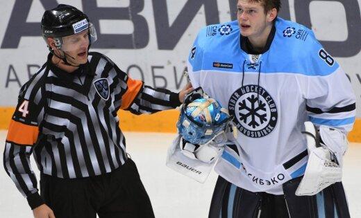 Защитник «Сибири» дисквалифицирован на 5 матчей забросок шайбой всудью