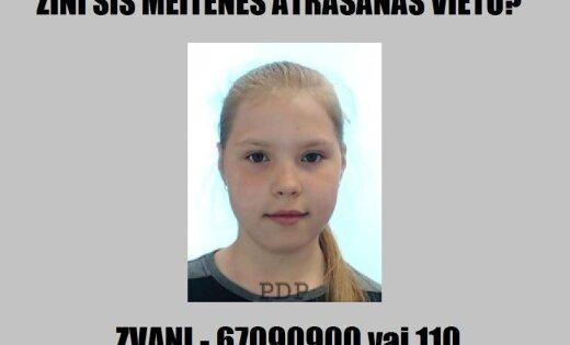 ФОТО: Полиция нашла пропавшую без вести 12-летнюю школьницу (обновлено)
