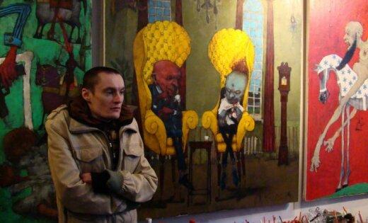Gleznotāja Sergeja Djomina personālizstādes atklāšana