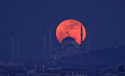 'Кровавая луна: как увидеть полное лунное затмение в Латвии