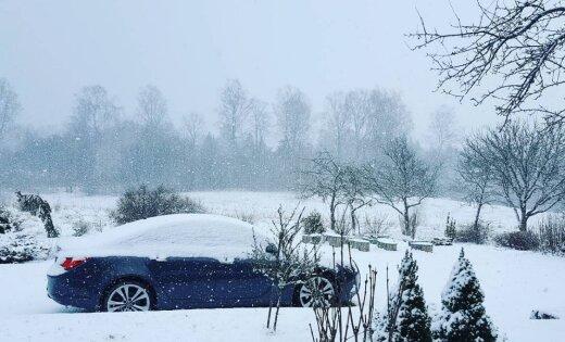 """На латвийском """"полюсе холода"""" в пятницу выпало четыре сантиметра снега"""