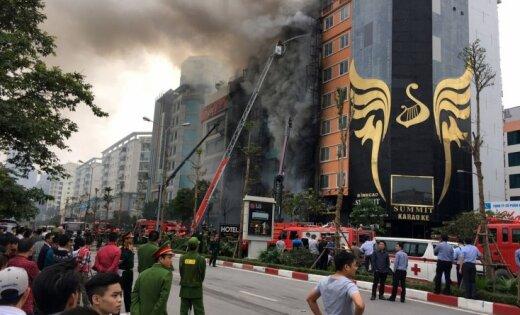13 человек живьем сгорели вовьетнамском караоке-баре