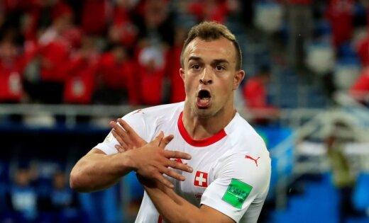 Šveices futbola zvaigzne Šakiri pārgājis uz 'Liverpool'