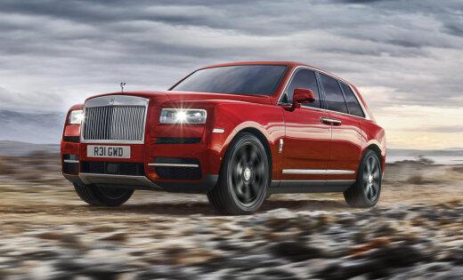 'Rolls-Royce' oficiāli atklājis savu pirmo apvidnieku 'Cullinan'