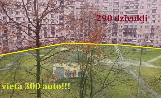 300 парковочных мест на 290 квартир. Читатель придумал, как вместить во двор все машины