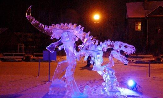 Fotoreportāža: Ledus mistēriju izstāde Jelgavā