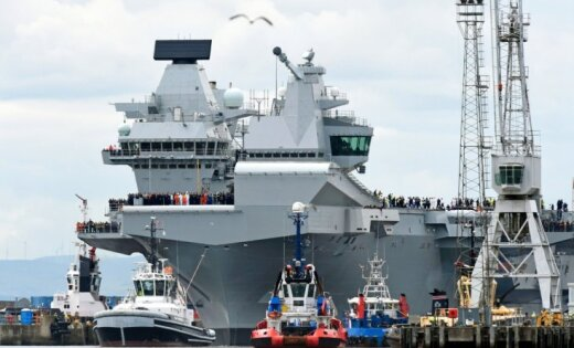 В Великобритании усилят охрану авианосца Queen Elizabeth после посадки дрона на его палубу