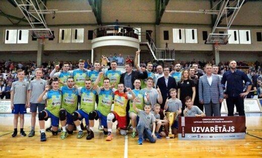 Jēkabpils 'Lūši' pirmo reizi vēsturē kļūst par Latvijas čempioniem volejbolā