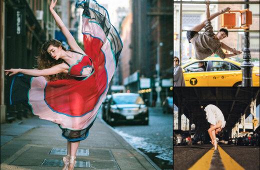 Завораживающие фото балетных танцоров на улицах города