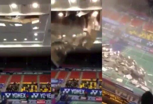 Video: mirkli pirms jumta sabrukšanas badmintona tiesnesis izglābj cilvēku dzīvības