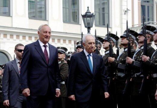 В Латвию с визитом прибыл президент Израиля Шимон Перес