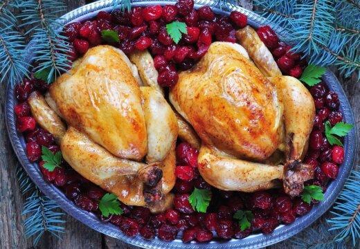 Фаршированная курица к новогоднему столу