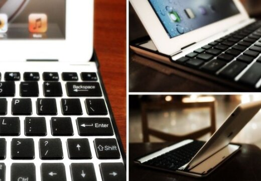 Alumīnija klaviatūra pārvērtīs 'iPad 2' par 'MacBook Air'