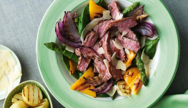 Karstie salāti ar liellopa gaļu