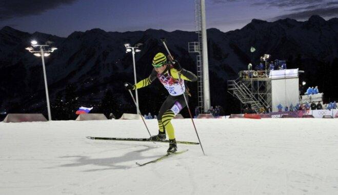 Sočos ledus un sniega trasēs iziet Latvijas ātrslidotāji, kamaniņu braucējas un Rastorgujevs
