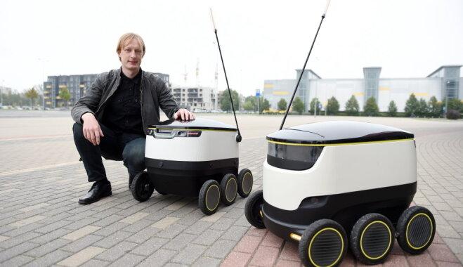ФОТО: в Риге показали роботов-курьеров, созданных со-основателями Skype