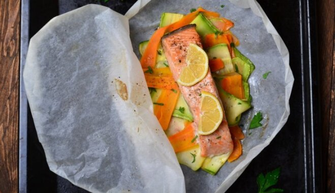 Без лишних калорий – запекаем рыбу или куриное филе в бумаге