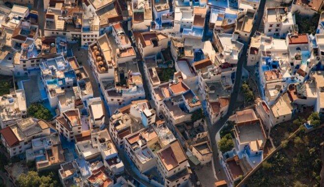 Foto: Marokas piekraste no putna lidojuma un pat vēl augstāk