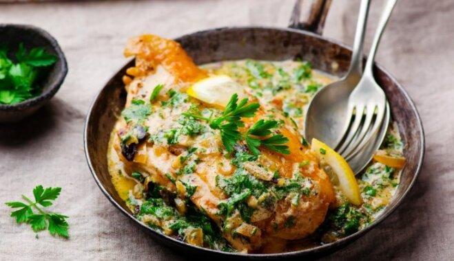 Быстрый рецепт курицы в лимонно-чесночном соусе